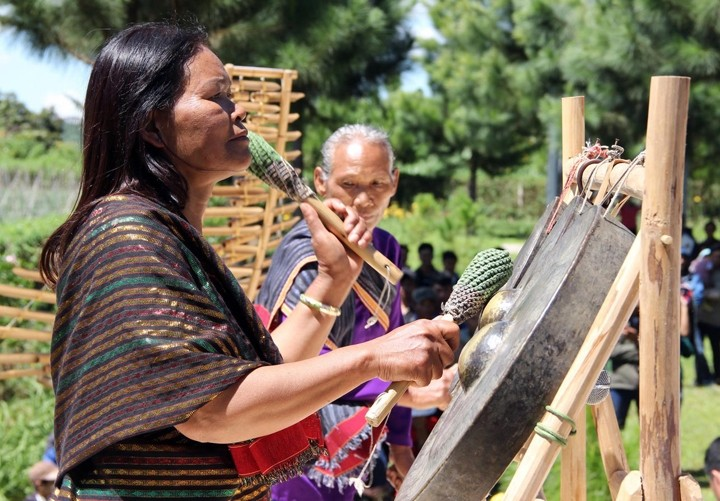 Renace la cultura de la etnia Churu gracias al empeño de una abnegada artesana - ảnh 1