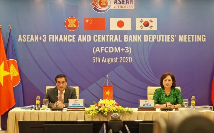 En Hanói conferencia de subministros de Finanzas y vicegobernadores de Bancos Centrales de la Asean y socios - ảnh 1