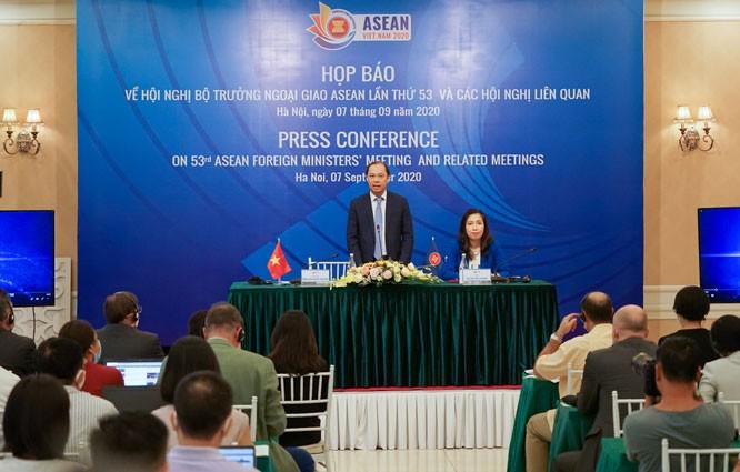 Delegados esperanzados en los buenos resultados de la 53 teleconferencia ministerial de la Asean - ảnh 1