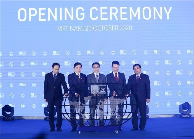 Inauguran la Conferencia y la Exposición Digital World 2020 en Vietnam - ảnh 1