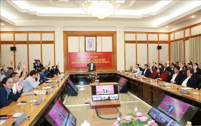 Líder político de Vietnam asiste a la conferencia de consulta ciudadana sobre candidatos al Parlamento - ảnh 1