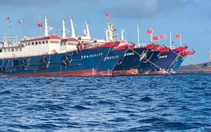 Filipinas se opone a la presencia de barcos chinos en territorios en disputa - ảnh 1