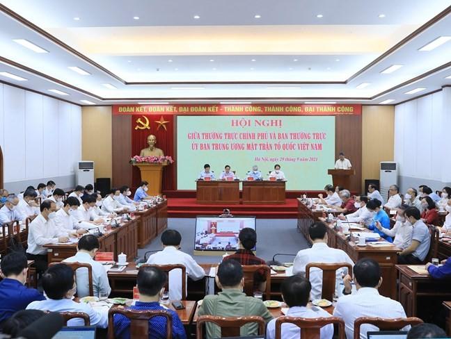 El Gobierno y el Frente de la Patria de Vietnam afianzan la coordinación - ảnh 1