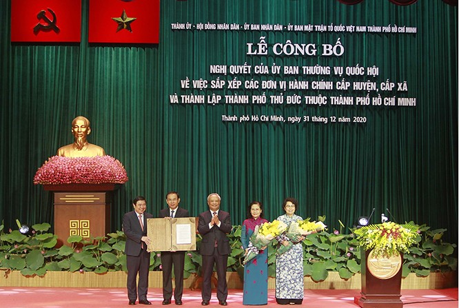 Hô Chi Minh-ville officialise la fondation de la ville de Thu Duc - ảnh 1
