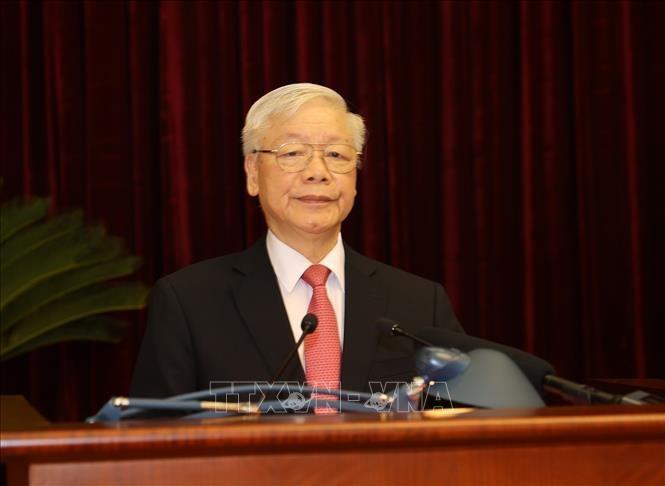 Ouverture du 2e plénum du Comité central du Parti communiste du Vietnam,13e mandat - ảnh 2