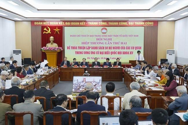 Législatives: deuxième conférence consultative organisée par le Front de la patrie du Vietnam - ảnh 1