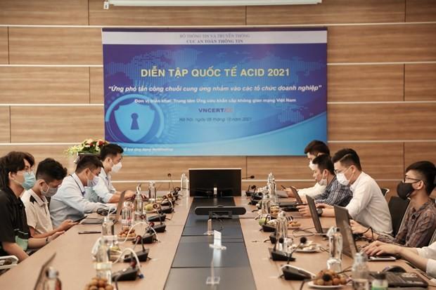 Le Vietnam participe à l'exercice de réponse aux incidents de cybersécurité de l'ASEAN 2021 - ảnh 1