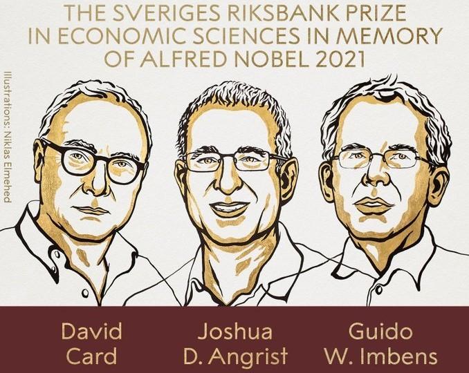 Le prix Nobel d'économie attribué à David Card, Joshua Angrist et Guido Imbens - ảnh 1
