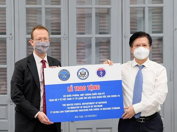 77 réfrigérateurs à vaccins offerts par les États-Unis arrivent au Vietnam - ảnh 1