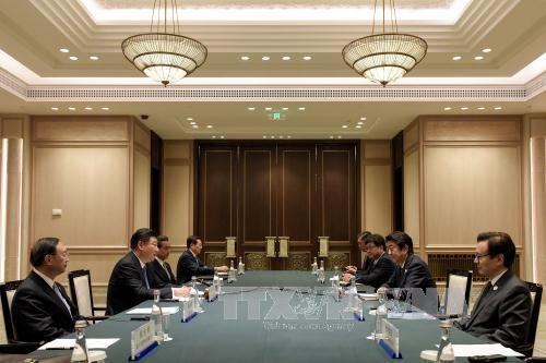 ผู้นำจีนและญี่ปุ่นเจรจากัน - ảnh 1