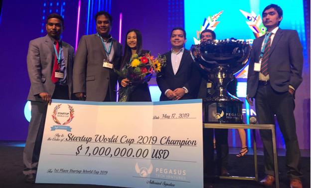 Start-up กลุ่มแรกของเวียดนามคว้าอันดับ 1 ในการประกวด Start-up World Cup - ảnh 1