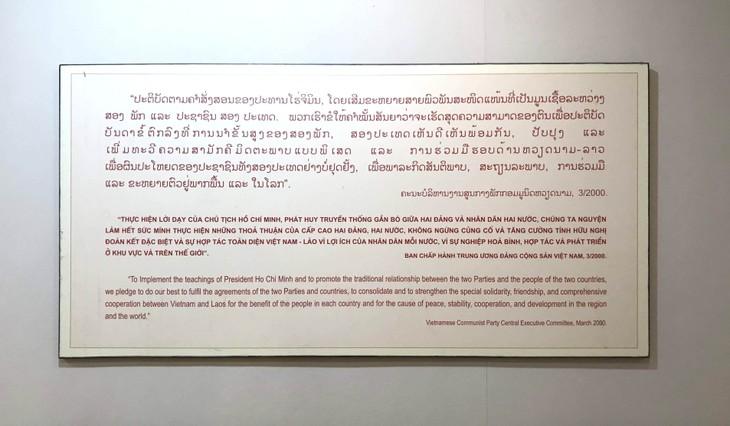 อนุสรณ์สถานประธานโฮจิมินห์ในแขวงคำม่วน ประเทศลาว ร่องรอยเกี่ยวกับความสามัคคีเวียดนาม – ลาว - ảnh 28