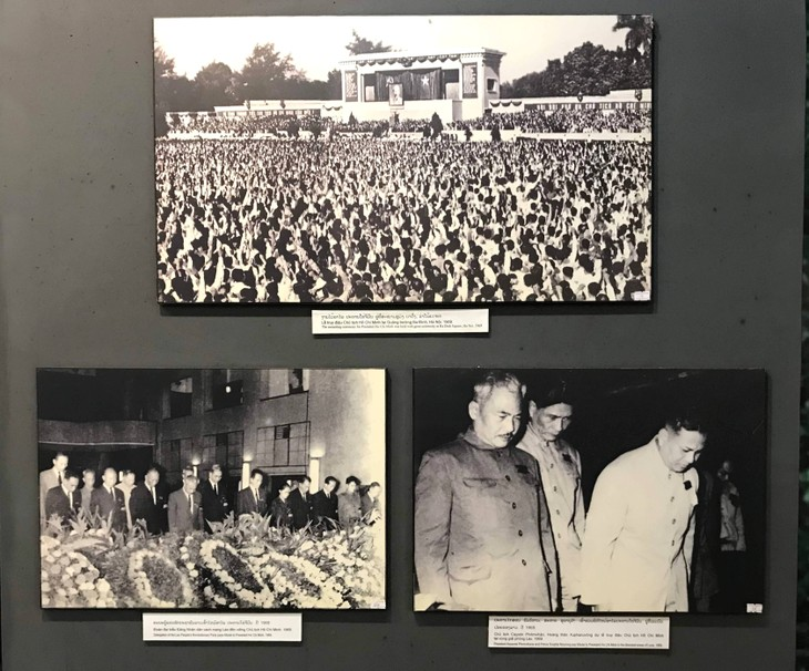 อนุสรณ์สถานประธานโฮจิมินห์ในแขวงคำม่วน ประเทศลาว ร่องรอยเกี่ยวกับความสามัคคีเวียดนาม – ลาว - ảnh 18