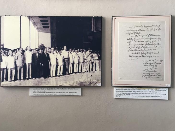 อนุสรณ์สถานประธานโฮจิมินห์ในแขวงคำม่วน ประเทศลาว ร่องรอยเกี่ยวกับความสามัคคีเวียดนาม – ลาว - ảnh 19
