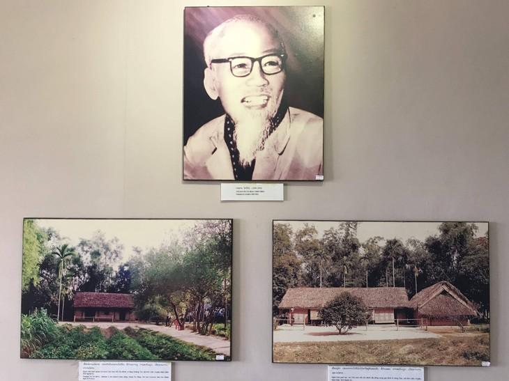 อนุสรณ์สถานประธานโฮจิมินห์ในแขวงคำม่วน ประเทศลาว ร่องรอยเกี่ยวกับความสามัคคีเวียดนาม – ลาว - ảnh 5