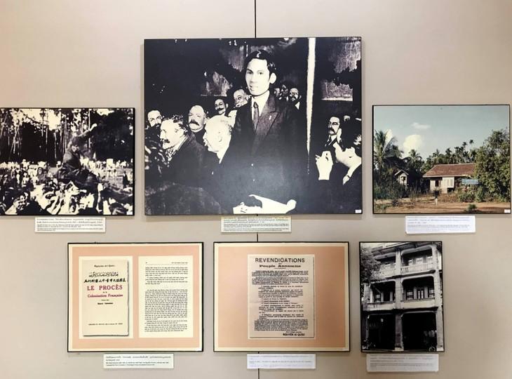 อนุสรณ์สถานประธานโฮจิมินห์ในแขวงคำม่วน ประเทศลาว ร่องรอยเกี่ยวกับความสามัคคีเวียดนาม – ลาว - ảnh 8