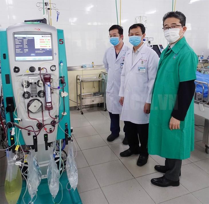 JICA สนับสนุนอุปกรณ์การแพทย์ให้แก่โรงพยาบาลเจอะไหรเพื่อรักษาผู้ติดเชื้อโรคโควิด 19 - ảnh 1