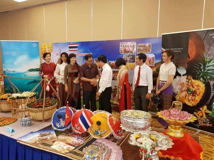 งานเทศกาลปีใหม่ตามประเพณีของกัมพูชา - ลาว - ไทย - ảnh 1