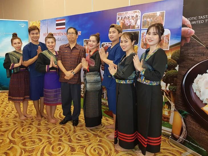 งานเทศกาลปีใหม่ตามประเพณีของกัมพูชา - ลาว - ไทย - ảnh 3