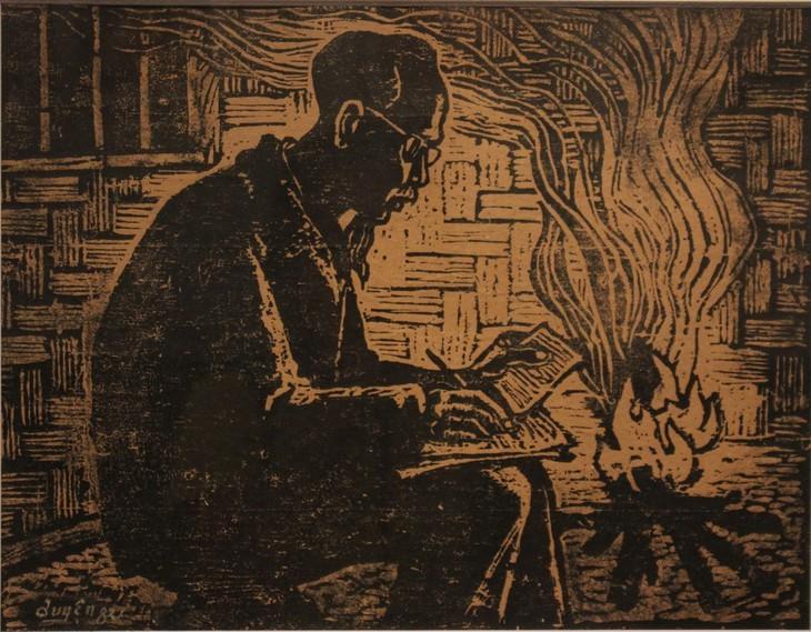 ภาพวาดที่น่าประทับใจเกี่ยวกับประธานโฮจิมินห์ - ảnh 5