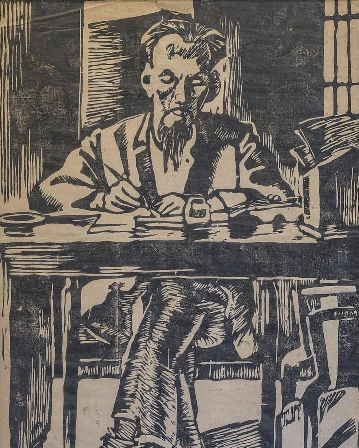 ภาพวาดที่น่าประทับใจเกี่ยวกับประธานโฮจิมินห์ - ảnh 8