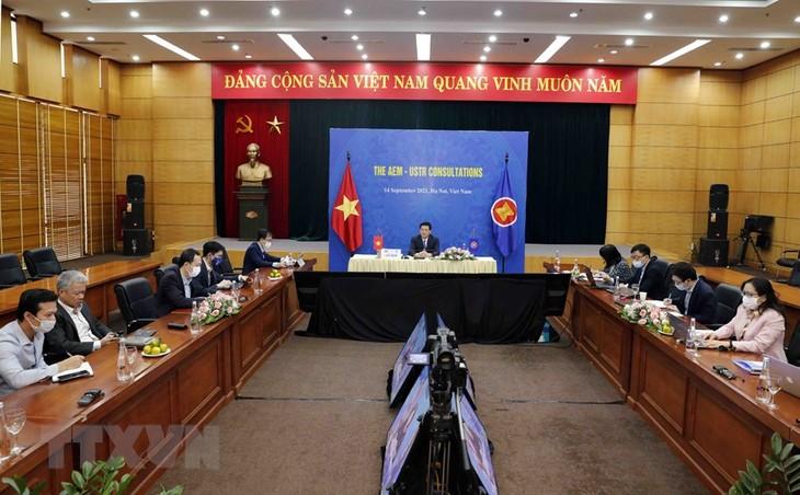 การประชุมทาบทามความคิดเห็นระดับรัฐมนตรีกระทรวงเศรษฐกิจระหว่างอาเซียนกับหุ้นส่วน - ảnh 1
