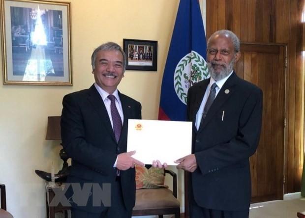 Vietnamese Ambassador to Belize presents credentials - ảnh 1