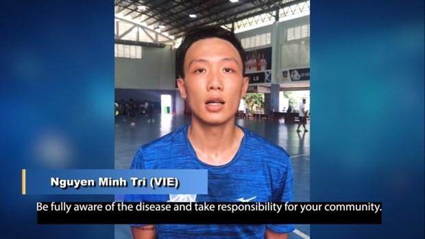 Vietnam futsal player joins #BreakTheChain campaign against COVID-19 - ảnh 1