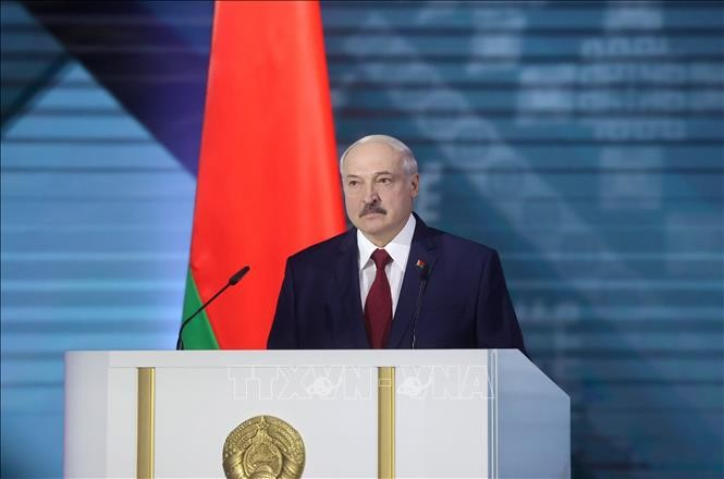 Russia protests foreign interference in Belarus  - ảnh 1