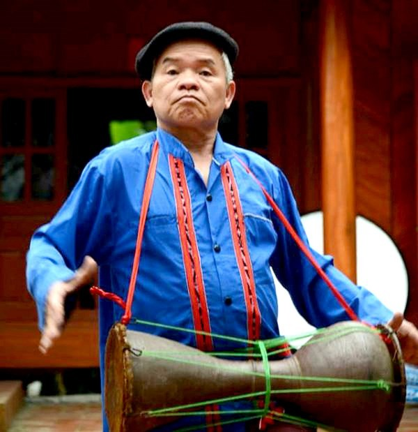 Clay drum, the traditional musical instrument of Cao Lan ethnic people - ảnh 1