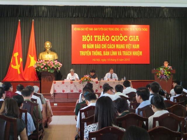 Hội thảo 90 năm báo chí cách mạng Việt Nam: Truyền thống, bản lĩnh và trách nhiệm  - ảnh 1