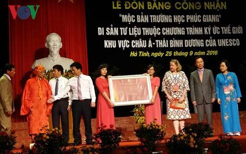 """ha tinh don bang di san tu lieu """"moc ban truong hoc phuc giang"""" hinh 1"""