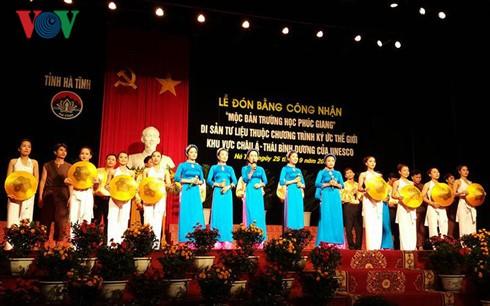 """ha tinh don bang di san tu lieu """"moc ban truong hoc phuc giang"""" hinh 0"""