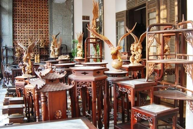 Về làng mộc Hải Minh, nơi sản xuất các sản phẩm theo phong cách cổ - ảnh 3