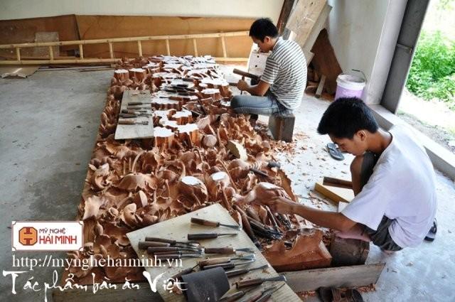 Về làng mộc Hải Minh, nơi sản xuất các sản phẩm theo phong cách cổ - ảnh 4