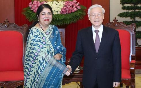 Tổng Bí thư Nguyễn Phú Trọng tiếp Chủ tịch Quốc hội Bangladesh Shirin Sharmin Chaudhury - ảnh 1