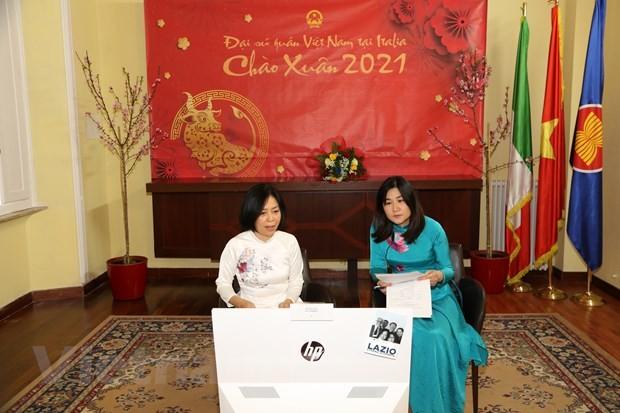 Đại sứ quán tại Italy tổ chức gặp mặt các gia đình con nuôi Việt Nam nhân dịp tết Tân Sửu 2021 - ảnh 1