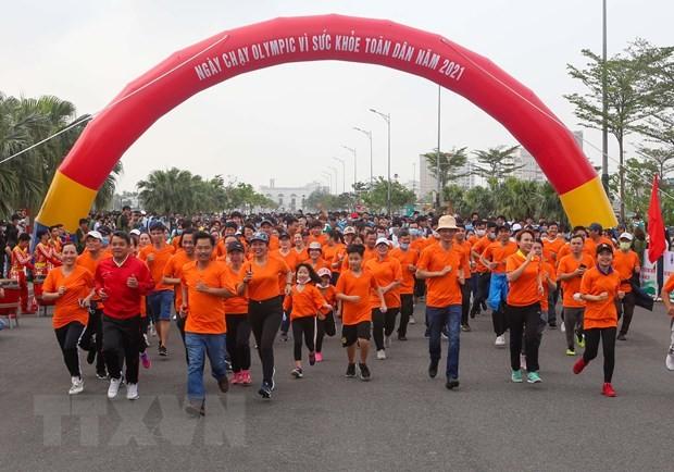 """Đà Nẵng: Hơn 1.500 người tham gia Ngày chạy Olympic """"Vì sức khỏe toàn dân""""  - ảnh 1"""