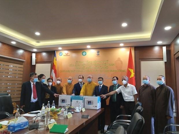 Giáo hội Phật giáo Việt Nam tặng Ấn Độ máy thở, máy tạo ôxy  - ảnh 1