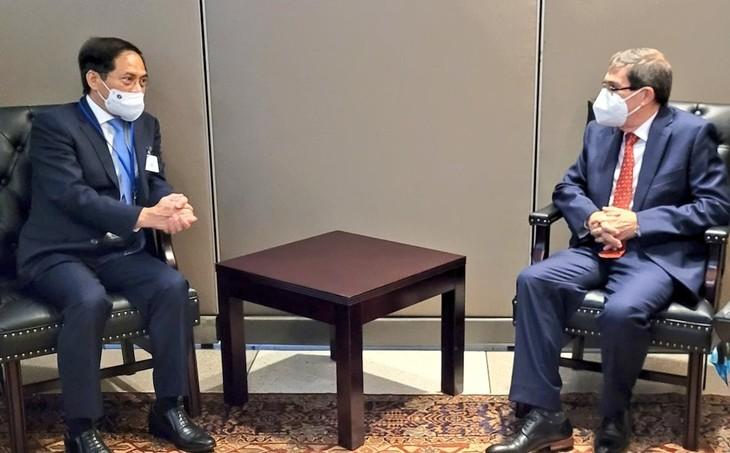 Bộ trưởng Bộ Ngoại giao Bùi Thanh Sơn gặp gỡ bên lề khóa họp 76 Đại hội đồng Liên hợp quốc - ảnh 1