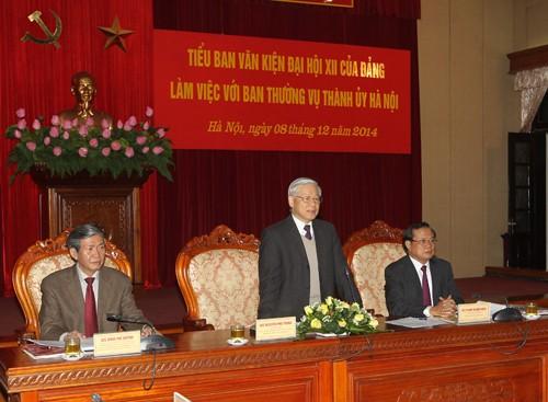 Tổng Bí thư Nguyễn Phú Trọng: Đảng bộ Hà Nội cần mẫu mực, làm gương cho cả nước - ảnh 1