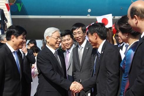 Tổng Bí thư Nguyễn Phú Trọng bắt đầu chuyến thăm chính thức Nhật Bản - ảnh 1