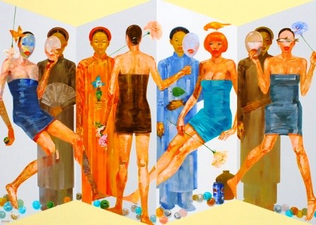 Giao lưu nhóm họa sĩ Việt Nam - Malaysia - Thái Lan  - ảnh 1