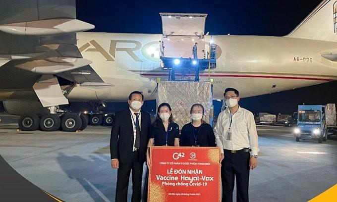 1 million Hayat-Vax COVID-19 vaccine doses land in Vietnam - ảnh 1