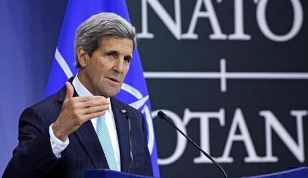 รัฐมนตรีต่างประเทศสหรัฐเป็นประธานการประชุมครั้งแรกของพันธมิตรต่อต้านกลุ่มไอเอส - ảnh 1