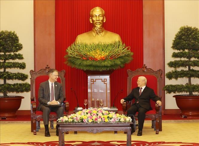 Нгуен Фу Чонг принял посла США во Вьетнаме по случаю завершения срока его работы во Вьетнаме - ảnh 1