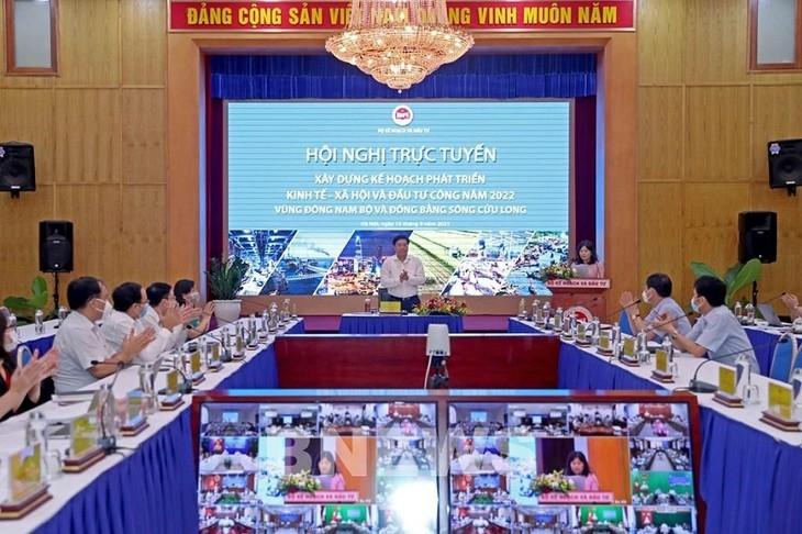 Поиск мер по ускорению социально-экономического развития и увеличению госинвестиций на 2022 год в дельте реки Меконг  - ảnh 1