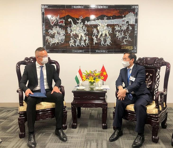 Глава МИД Вьетнама Буй Тхань Шон провел встречи в кулуарах 76-й сессии Генеральной ассамблеи ООН - ảnh 3