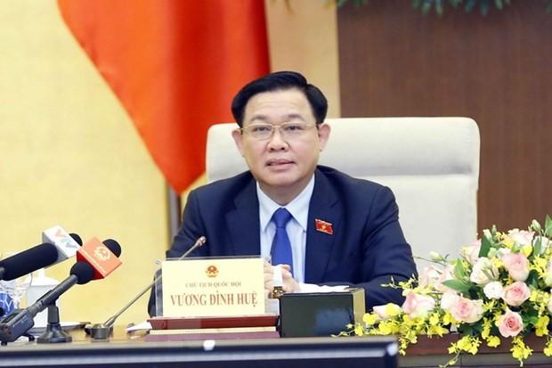 Председатель НС Выонг Динь Хюэ поздравил руководителей парламента Марроко с избранием - ảnh 1