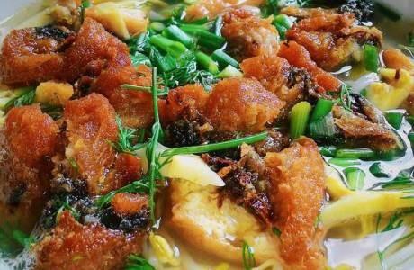 Bình dị và ngọt lành canh bánh đa cá rô đồng - ảnh 2